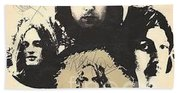Led Zeppelin Autographed Album  Beach Towel