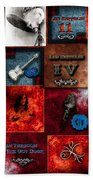 Led Zeppelin Discography Beach Towel