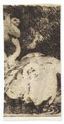 Leda Bathing (l?da Au Bain) Beach Towel