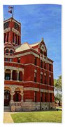 Lee County Courthouse Giddings Texas 2 Beach Towel