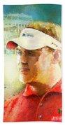 Lee Westwood Winning The Portugal Masters 2009 Beach Towel