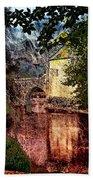 Leeds Castle Gatehouse And Moat Beach Towel