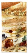 Left Behind - Indian Pottery Beach Towel