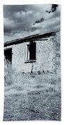 Left In Ruin Beach Towel by Mike  Dawson