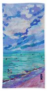 Left Panel Of Triptych Busy Relaxing Beach Towel