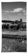 Legend Of The Bear Wyoming Devils Tower Panorama Bw Beach Towel