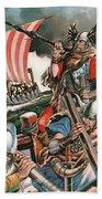 Leif Ericsson, The Viking Who Found America Beach Towel