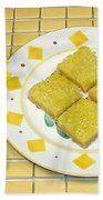 Lemon Candy Bars Beach Towel