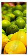 Lemons And Limes Beach Towel