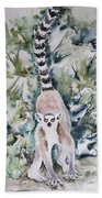 Lemur Catta Beach Towel