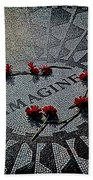 Lennon Memorial Beach Towel by Chris Lord