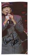 Leonard Cohen Autographed Beach Towel