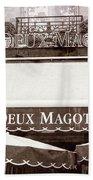 Les Deux Magots - #2 Beach Towel