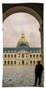 Les Invalides Paris Beach Towel