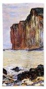 Les Petites Dalles Beach Towel by Claude Monet