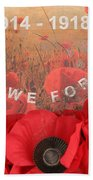 Lest We Forget - 1914-1918 Beach Towel