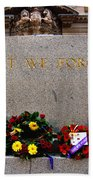 Lest We Forget War Memorial Martin Place Beach Towel