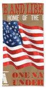 Let Freedom Ring Beach Sheet