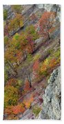 Letchworth Falls State Park Fall Colors Beach Towel