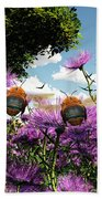 Two Bumblebees Discover The World Beach Towel