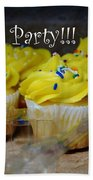 Let's Party Cupcakes Beach Towel