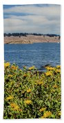 Let's Stop For Lunch Here Beach Towel