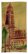 Leveq-lncoln Tower Columbus Ohio Beach Towel
