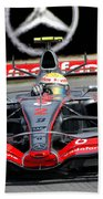 Lewis Hamilton, Mclaren- Mercedes Mp4-22 Beach Towel