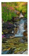 Lewis Monkey Flowers And Cascade Beach Towel