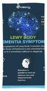 Lewy Body Dementia Symptoms Beach Towel