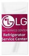 Lg Refrigerator Service Center Beach Towel