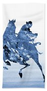 Li Shang-blue Beach Towel