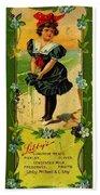 Libbys Bookmark Vintage With Girl On Beach Beach Towel