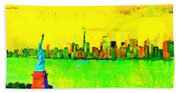 Liberty In New York - Pa Beach Towel