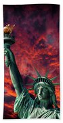 Liberty On Fire Beach Towel