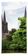 Lichfield Cathedral From Minster Pool Beach Towel