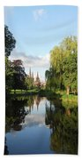 Lichfield Cathedral Reflectons Beach Towel