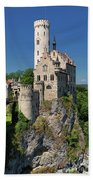 Lichtenstein Castle Beach Towel by Yair Karelic