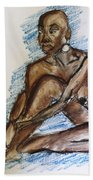 Life Drawing Study Beach Towel