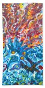 Life Ignition Mural V2 Beach Sheet