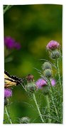 Life In The Meadow Beach Towel