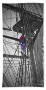 Life On The Ropes Beach Towel