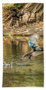 Liftoff In A Blur Of Color Beach Towel