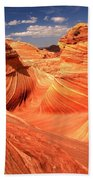 Light And Dark At The Wave Beach Towel