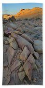 Light Fading On Valley Of Fire Beach Towel