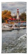 Light House Mississauga Beach Towel