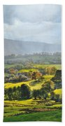 Light In The Valley At Rhug. Beach Towel