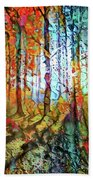 Light In The Woods Beach Towel