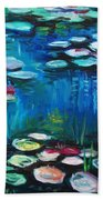 Light Of The Lillies Beach Towel