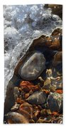 Light On Rocks And Ice  Beach Towel